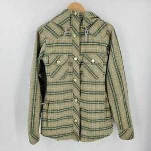 Nike Snowboarding Plaid Flannel Style Hooded Jacket Size XS